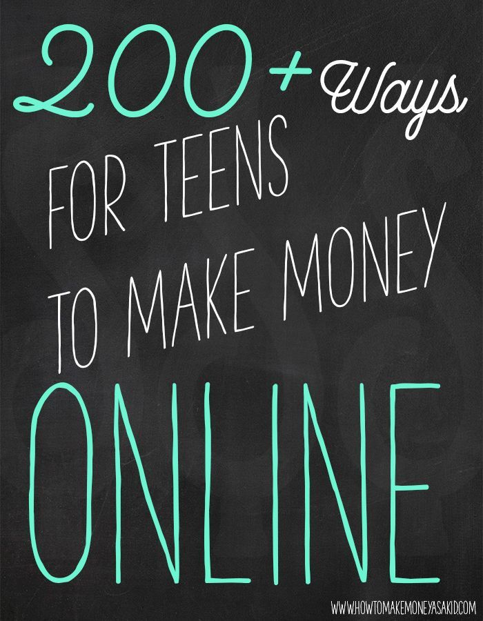 ways to make money online as a teen